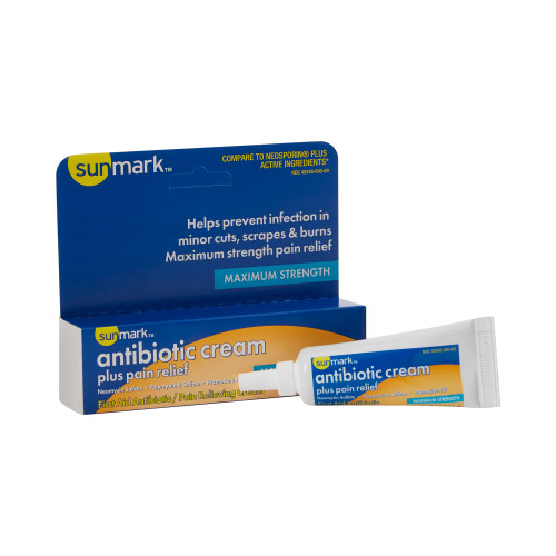 sunmark First Aid Antibiotic with Pain Relief McKesson Brand 49348069069