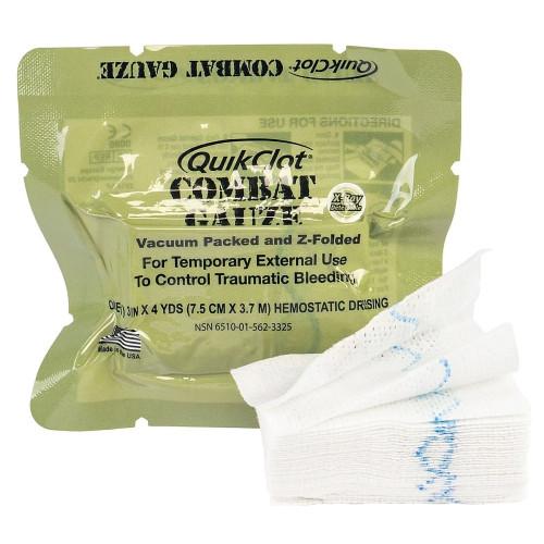 QuikClot Combat Gauze Hemostatic Dressing Z-Medica 200