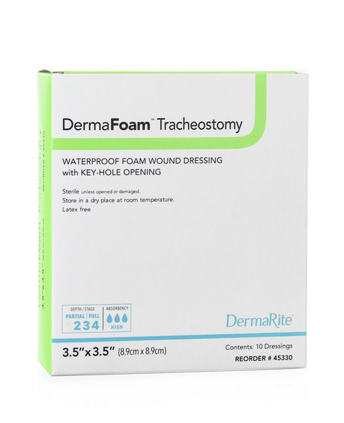DermaFoam Tracheostomy Foam Dressing DermaRite Industries 45330