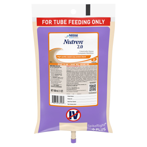 Nutren 2.0 Tube Feeding Formula Nestle Healthcare Nutrition 00798716441469
