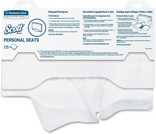 Scott Personal Seats Toilet Seat Cover Kimberly Clark 07410