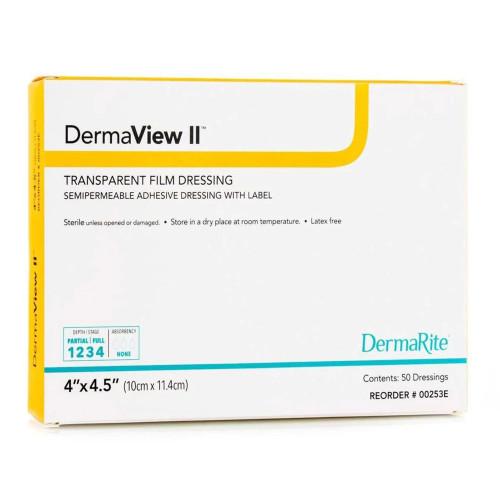 DermaView II Transparent Film Dressing DermaRite Industries