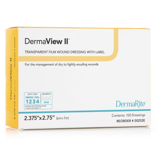 DermaView II Transparent Film Dressing DermaRite Industries