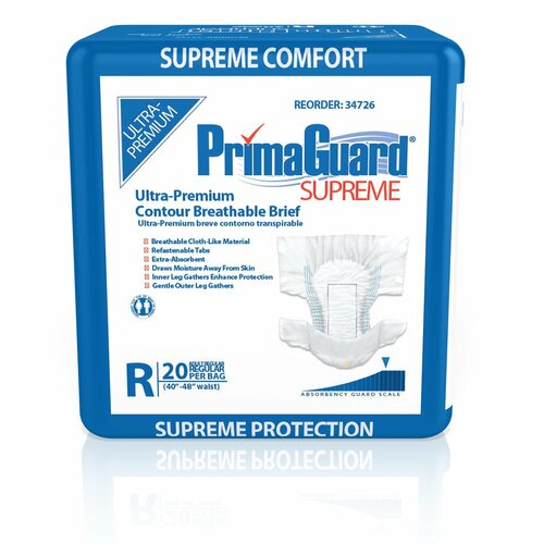 PrimaGuard Supreme Incontinence Brief McKesson Brand 34726