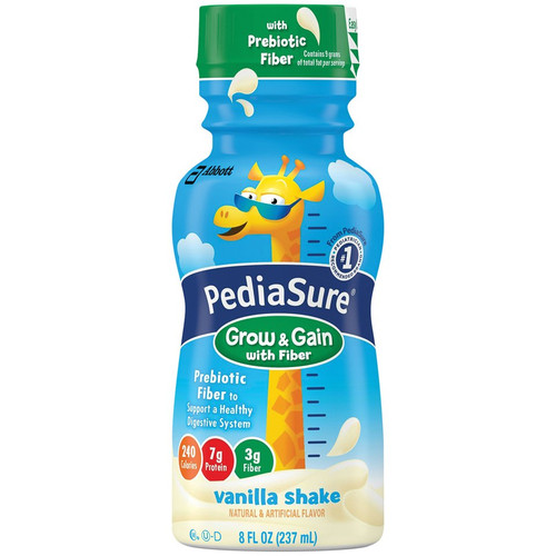 PediaSure Grow & Gain with Fiber Pediatric Oral Supplement Abbott Nutrition