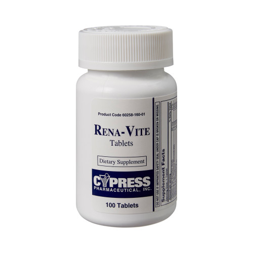 Rena-Vite Multivitamin Supplement Cypress Pharmaceutical 60258016001