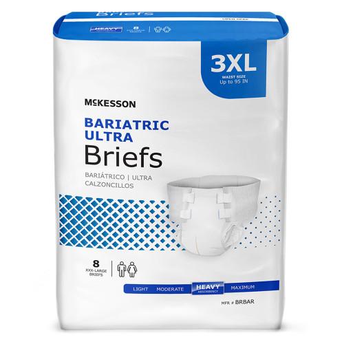 McKesson Ultra Plus Bariatric Incontinence Brief McKesson Brand BRBAR