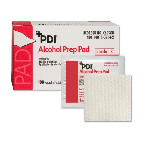 PDI Alcohol Prep Pad Professional Disposables C69900