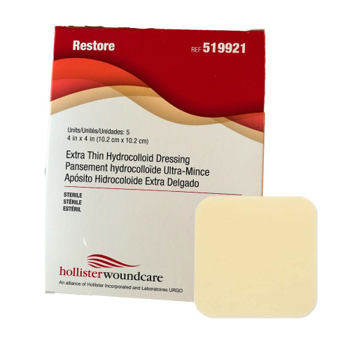 Restore Extra Thin Hydrocolloid Dressing Hollister 519921