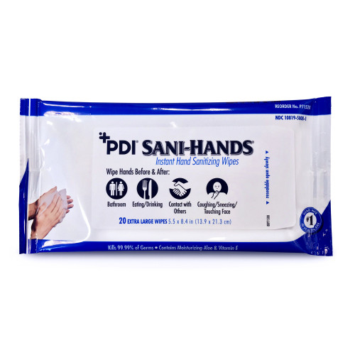 Sani-Hands Hand Sanitizing Wipe Professional Disposables P71520