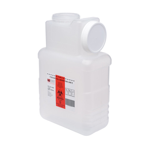 Leaktight Sharps Container Post Medical 2201-LPBW