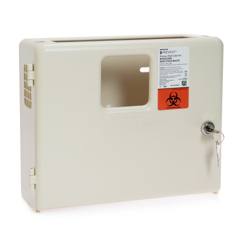 McKesson Prevent Sharps Collector Wall Cabinet McKesson Brand 2263
