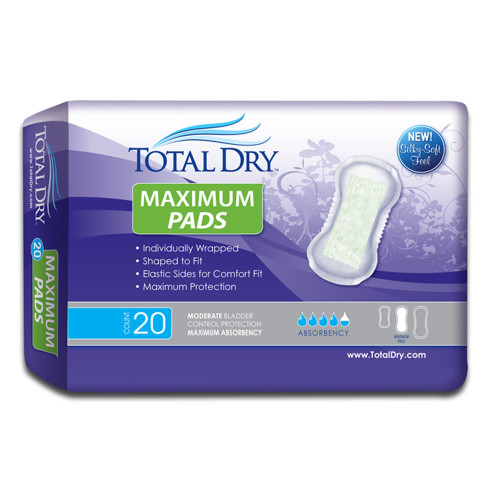 TotalDry Bladder Control Pad Secure Personal Care Products SP1573