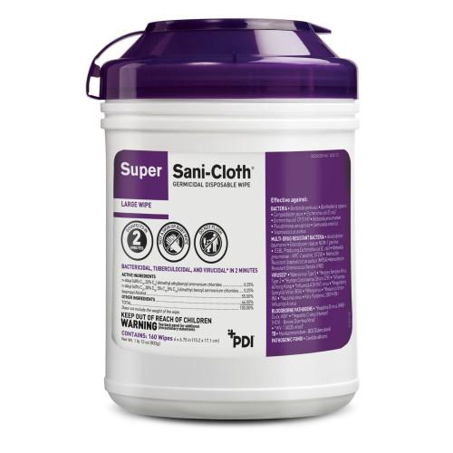 Super Sani-Cloth Surface Disinfectant Professional Disposables Q55172