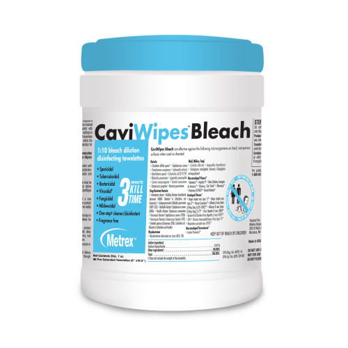 CaviWipes Bleach Surface Disinfectant Cleaner Metrex Research 13-9100