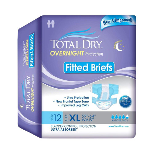 Total Dry Incontinence Brief Secure Personal Care Products SP92510