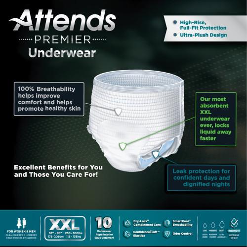 Attends Premier Absorbent Underwear Attends Healthcare Products ALI-UW