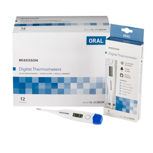 McKesson Digital Stick Thermometer McKesson Brand 16-413BGM