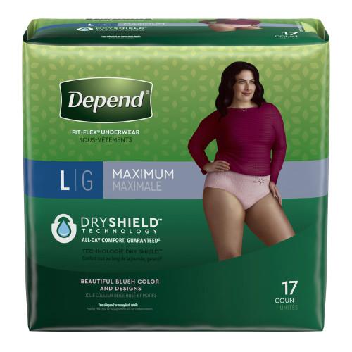 Depend FIT-FLEX Absorbent Underwear Kimberly Clark 48124