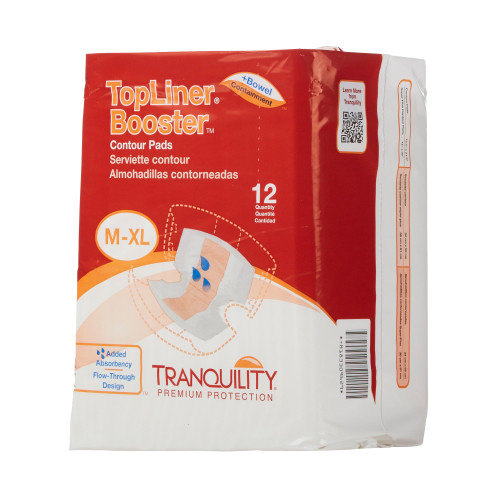 TopLiner Booster Contours Incontinence Booster Pad Principle Business Enterprises 3096