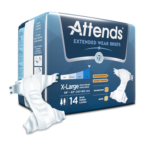Attends Extended Wear Incontinence Brief Attends Healthcare Products DDEW