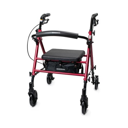 McKesson 4 Wheel Rollator McKesson Brand 146-RTL10261RD