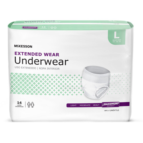 McKesson Extended Wear Absorbent Underwear McKesson Brand UWEXT