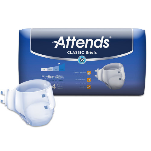 Attends Classic Incontinence Brief Attends Healthcare Products BRB