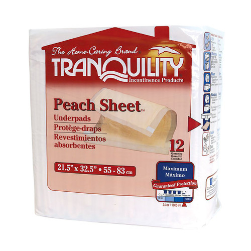 Tranquility Peach Sheet Underpad Principle Business Enterprises 2074