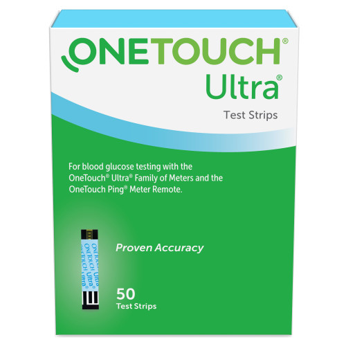 OneTouch Ultra Blue Blood Glucose Test Strips LifeScan 022896