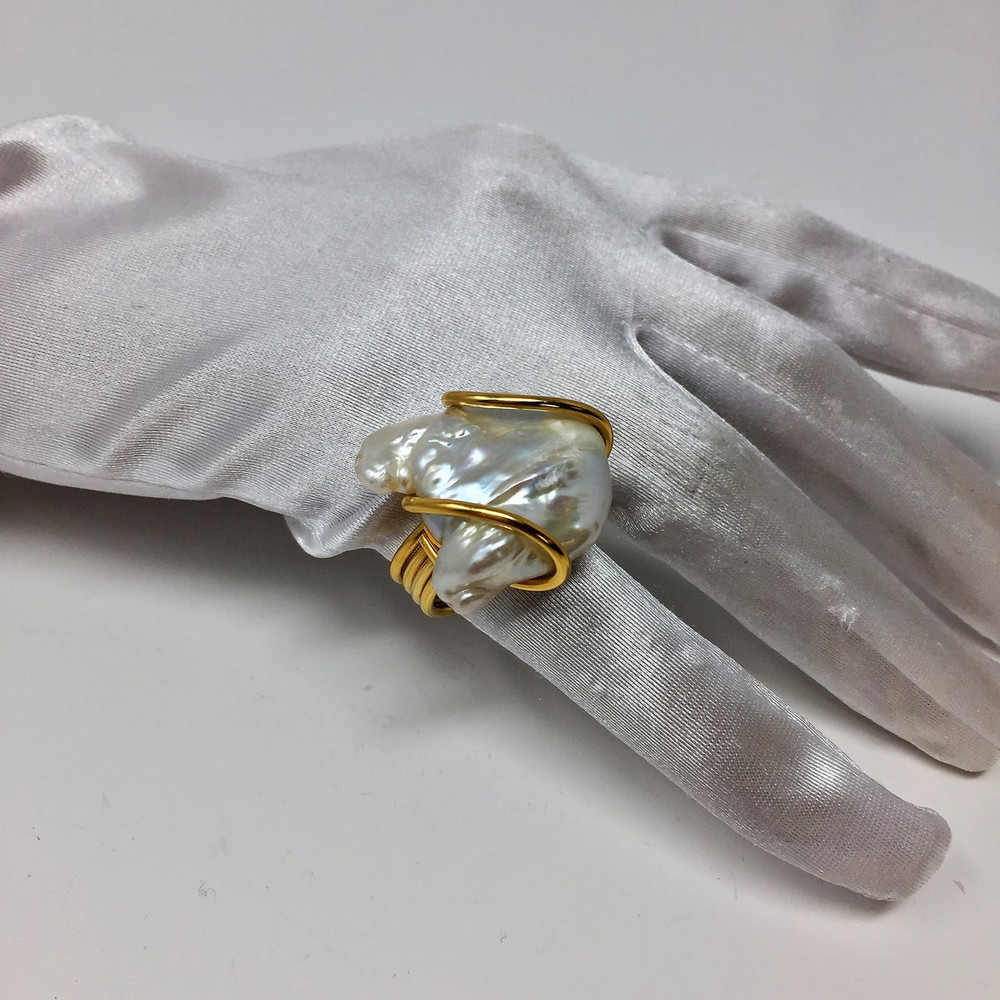 Baroque Pearl Ring