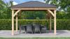 Yardistry Meridian Gazebo with Cedar Wood & Aluminum Roof (11 ft. x 13 ft.)