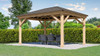 Yardistry Meridian Gazebo with Cedar Wood & Aluminum Roof, (12 ft. x 16 ft.)