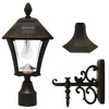 Gama Sonic Baytown Bulb Solar Lamp with 3 Mounting Options GS-106B-FPW