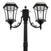 Gama Sonic Victorian Bulb Double Solar Lamp with GS Solar LED Light Bulb GS-94B-D