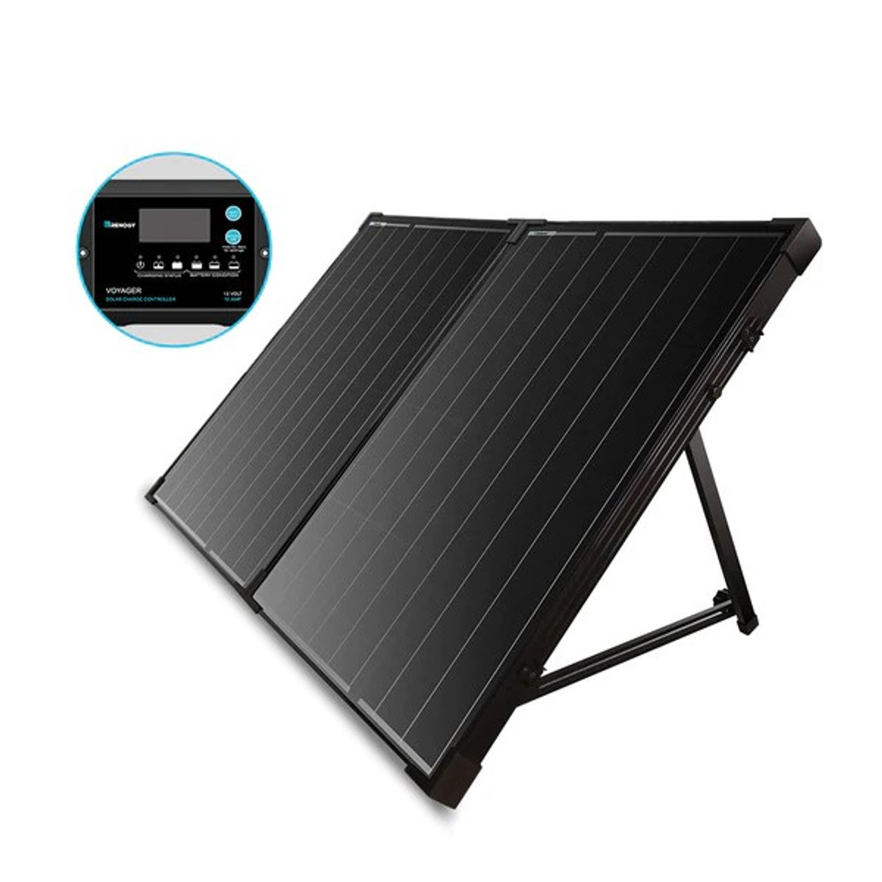 Renogy 100 Watt 12 Volt Monocrystalline Foldable Solar Suitcase With 10a Voyager Charge Controller Solartown Com