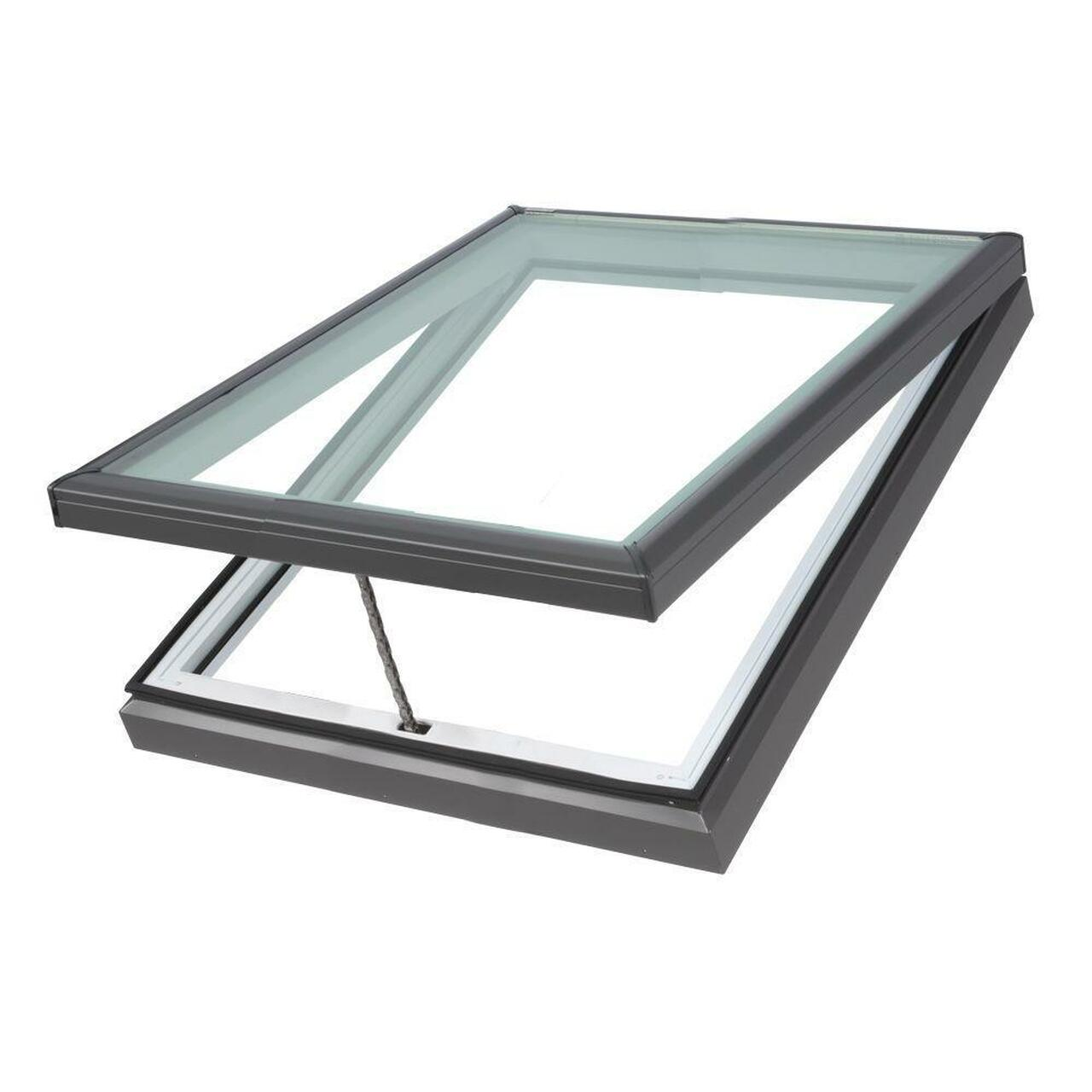 Fixed Curb-Mount Skylight with Tempered Low-E3 x 46-1//2 in VELUX 22-1//2 in
