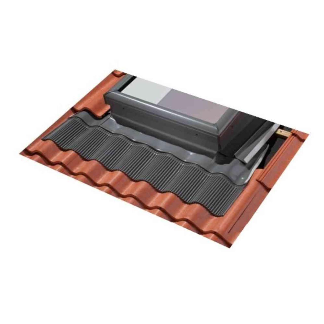 3446 Low-Profile Shingle Roof Flashing w//Adhesive Underlayment for Curb Mount Skylights VELUX ECL 3446 0000C Skylight Flashing