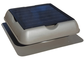 Solar Royal 30Watt Solar Attic Ventilation Fan with Thermostat (SR1800 Series) Weather-wood