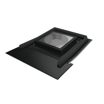 Fakro SRH-L 22 in. Flat Glass Tubular Skylight with Rigid Light Tunnel and Integrated High-Profile Flashing