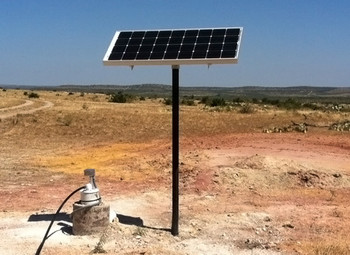 Ameresco 1X-TPM, Solar Panel Top of Pole Mount