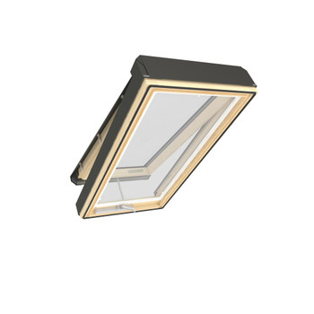Fakro FV 22-1/2 in. x 70 in. Manual Venting Deck-Mounted Skylight with Laminated Low-E Glass
