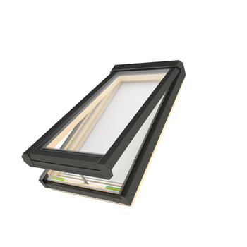 Fakro 22-1/2 in. x 54 in. Electric Venting Deck-Mounted Skylight with Laminated Low-E366 Glass