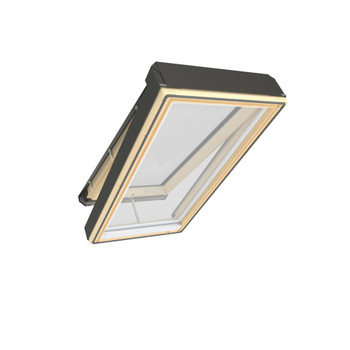 Fakro 22-1/2 in. x 37-1/2 in. Electric Venting Deck-Mounted Skylight with Laminated Low-E366 Glass