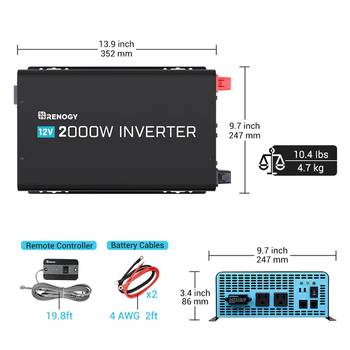 Renogy 2000W 12V Pure Sine Wave Inverter (Out-of-Stock)