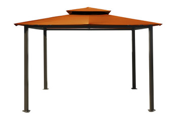 Barcelona Soft Top Gazebo with Rust Dome-Tex Canopy (10 ft. x 12 ft.)