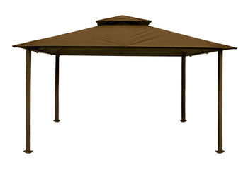 Barcelona Soft Top Gazebo with Cocoa Dome-Tex Canopy (11 ft. x 14 ft.)