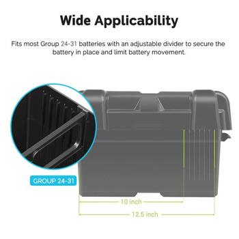 Renogy Heavy Duty Battery Box for Group 24-31 Battery Sizes