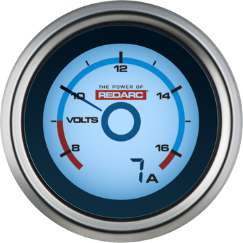 REDARC G52-VA Single Voltage 52mm Gauge with Optional Current Display