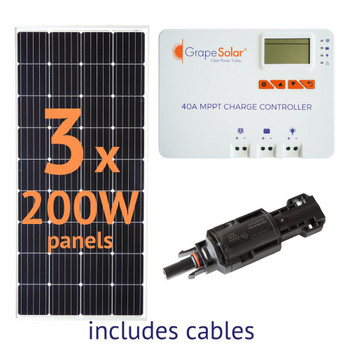 Grape Solar 600-Watt Off-Grid Solar Panel Kit
